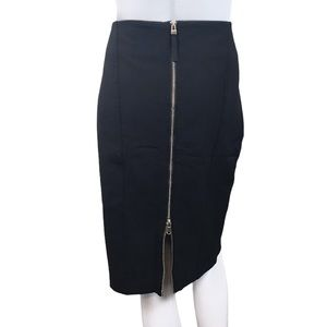 Sandra Angelozzi Black Zipper Plus Pencil Skirt